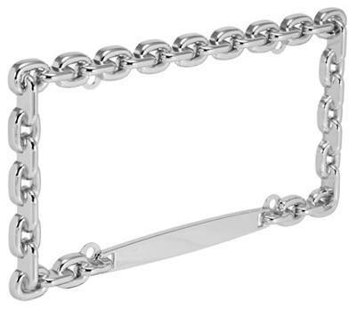 Junkyardfind Com Chrome Chain License Plate Frame